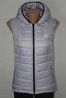 Женская спортивная жилетка в стиле ADIDAS серая, фото 1
