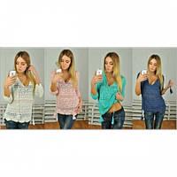 Кофта блуза женская Ажурная 1243,кофты женские