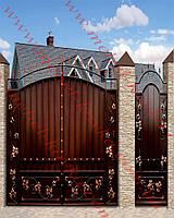 Ворота кованые 28