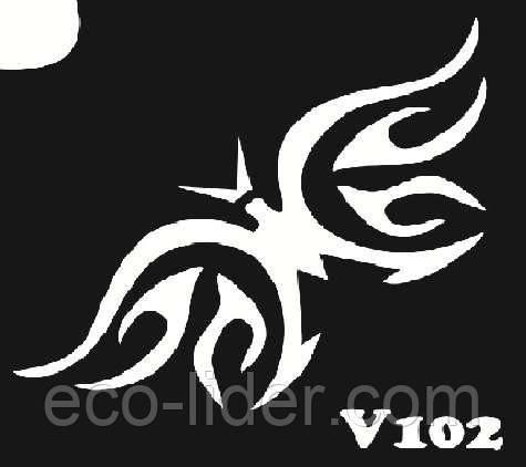 Трафарет для биотату V102, 6*6 см.