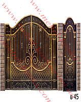 Ворота кованые 31