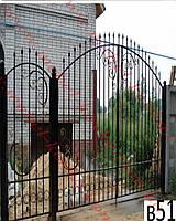 Ворота кованые 35