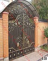 Ворота кованые 36
