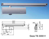 Доводчик GEZE TS 3000 V (линейная тяга с фиксацией)