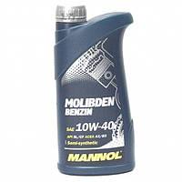 Полусинтетическое моторное масло Mannol Molibden Benzin 10W40 1L