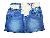 Джинсовая юбка для девочек, размеры 116-146 , арт. G 40400