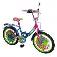 Велосипед 2-х колес 18 141801-B 1шт с подножкой, пласт.крылом, каретка Американка