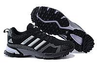 Кроссовки женские Adidas Marathon 10 черные с белым