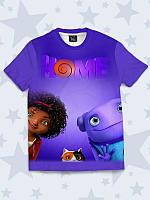 3D-футболка Home с красочным рисунком мультфильма.