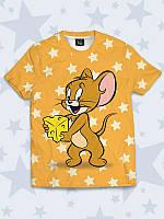 Футболка Jerry and cheese с очаровательным мышонком.
