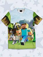 Стильная 3D футболка MINECRAFT для мальчиков с ярким рисунком.