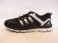 Кроссовки мужские  Adidas Clima Cool  текстиль, черные с белым (адидас клима кул)(р.41,45)