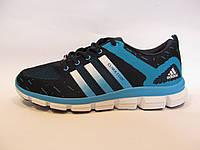 Кроссовки мужские  Adidas Clima Cool  текстиль, синие  с голубым (адидас клима кул)(р.41)