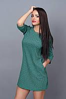 Модное женское платье зеленого цвета. Размеры 42-48