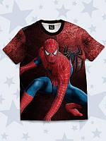 Футболка Spider-man hero с принтом известного супергероя.