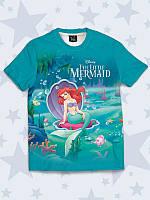 Модная детская 3D-футболка The Little Mermaid.