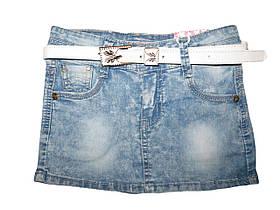 Джинсовая юбка для девочек, размеры 116,122  арт. G 50419