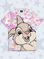 Футболка Весёлый кролик с прикольным принтом.