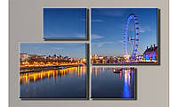 "Модульная картина на холсте ""London Eye"""
