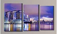 """Модульная картина на холсте """"Отель в Сингапуре"""""""