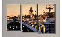 "Модульная картина на холсте ""Мост Александра III"""