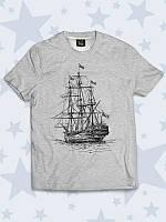 Детская футболка Корабль с оригинальным рисунком.