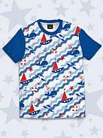 Классная детская футболка Лодочки с креативным рисунком.
