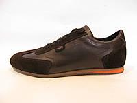 Кроссовки мужские Lacoste  кожаные, коричневые (лакоста)р.42