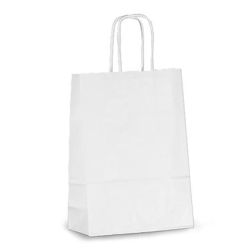 Крафт-пакет Volley 18х08х25 белый с витыми ручками