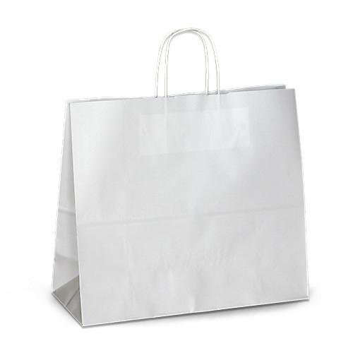 Крафт-пакет Volley 32х13х28 белый с витыми ручками