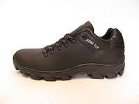 Туфли мужские  ECCO кожаные, черные (еко)р.42,43