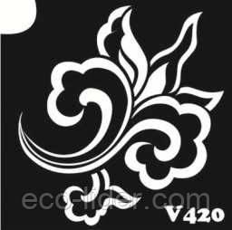 Трафарет для биотату V420, 6*6 см.