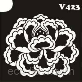 Трафарет для биотату V423, 6*6 см.