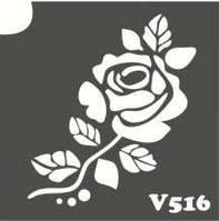 Трафарет для биотату V516, 6*6 см.