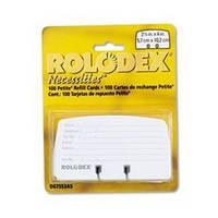 Сменные карточки разграфленные в блистере 100шт ROLODEX 67553