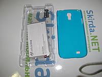 Чехол накладка для Samsung Galaxy S4 i9500 голубой пластик