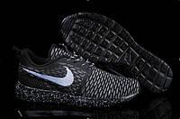 """Кроссовки мужские Nike Roshe Run Flyknit """"Черные"""" р. 40,41"""