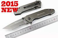 Тактический нож Browning (Браунинг) - титановое покрытие, пилка серейторная. Полуавтомат. Клипса для ношения.