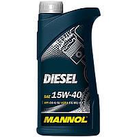 Минеральное моторное масло Mannol DIESEL 15W-40 1L