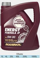Синтетическое моторное масло MANNOL ENERGY FORMULA JP 5W-30 4L