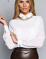 Женская блузка | Шифон однотонный sk