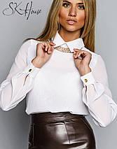 Женская блузка   Шифон однотонный sk, фото 3