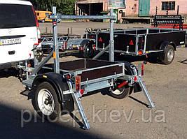 Прицеп для перевозки катушек (бухт, барабанов) для проводов.