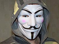 Маска персонажа V означает Вендетта anonymous