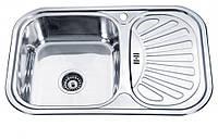 Мойка кухонная, Врезная, Нержавеющая сталь,Прямоугольная,Декор, фото 1