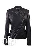 Черная кожаная куртка косуха (размер M-L), фото 1
