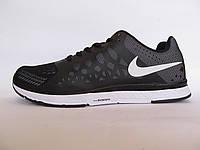 Кроссовки мужские  Nike текстиль, черные с белым (найк)р.42