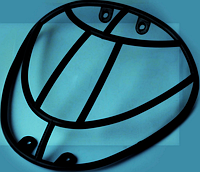 Пластик Zongshen GRAND PRIX фары (кенгурятник) KOMATCU