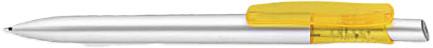 Ручка пластиковая VIVA PENS Tibi silver серебристо-желтая