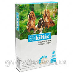 KILTIX (Килтикс) - ошейник для средних собак, от блох и клещей 48 см. Bayer